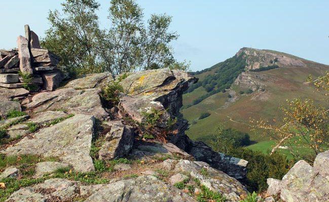 Cima del monte Larratzu en Baztan