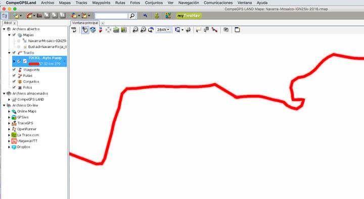 Track modificado con los puntos inicio y final exactos
