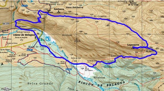 Mapa del recorrido 764