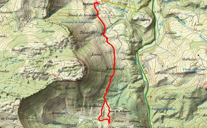 Mapa del recorrido 783