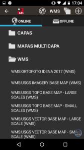 Nuevo mapa WMS añadido a nuestro OruxMaps