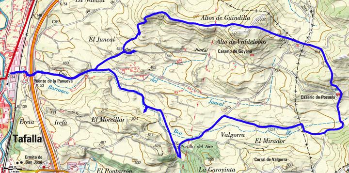 Mapa del recorrido 794