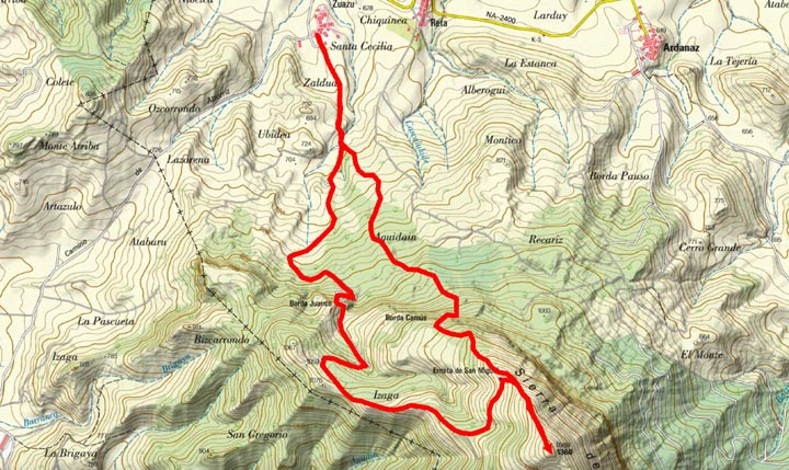Mapa del recorrido 797