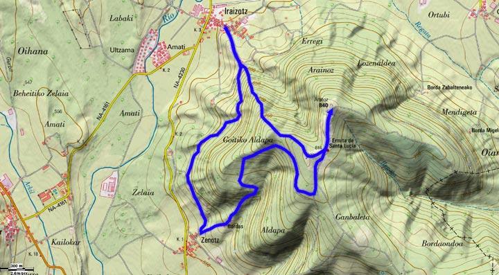 Mapa del recorrido 798