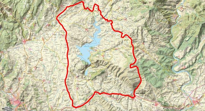 Mapa del recorrido 248BTT