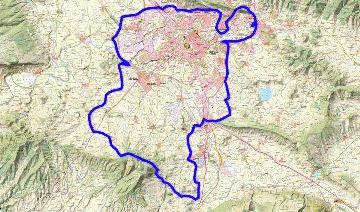 Mapa del recorrido 255btt