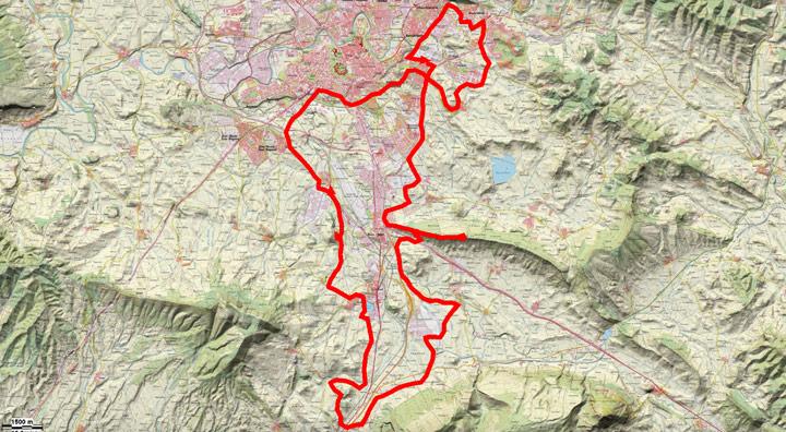 Mapa del recorrido 257BTT