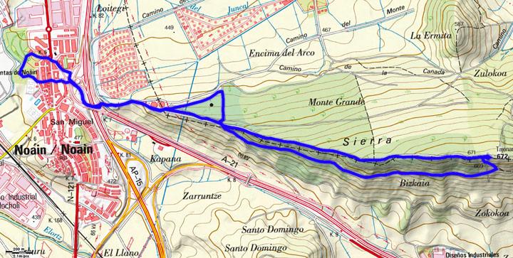 Mapa del recorrido 816