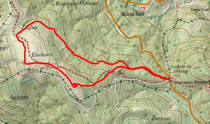 Mapa del recorrido 817