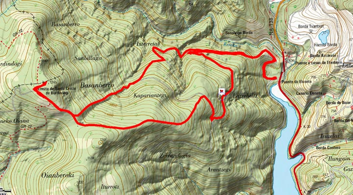 Mapa del recorrido 818