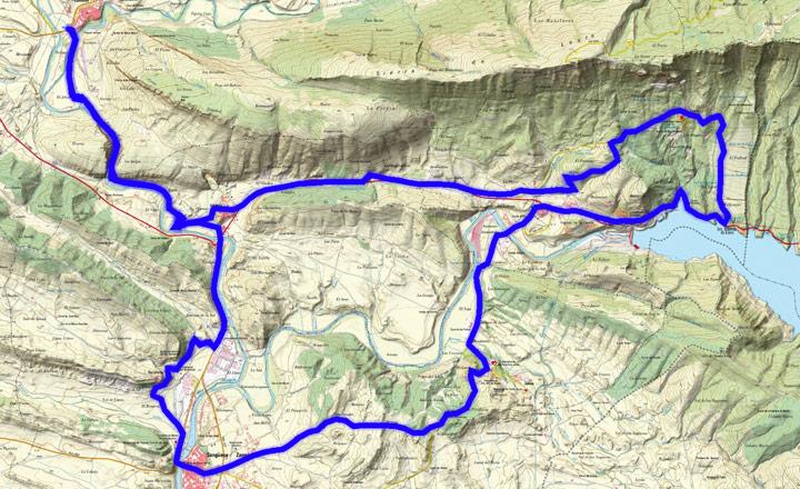 Mapa del recorrido 279BTT