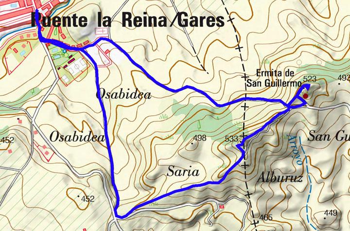 Mapa del recorrido 849