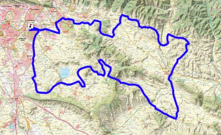Mapa del recorrido 293BTT