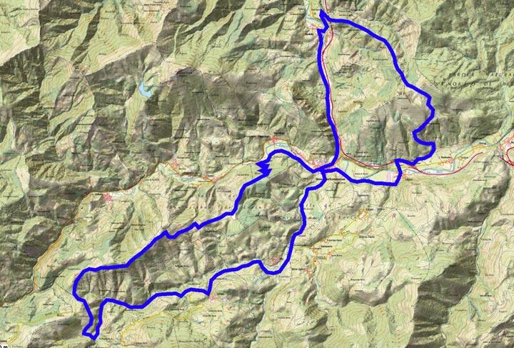 Mapa del recorrido 312BTT