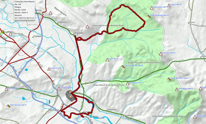 Maps del recorrido 320BTT