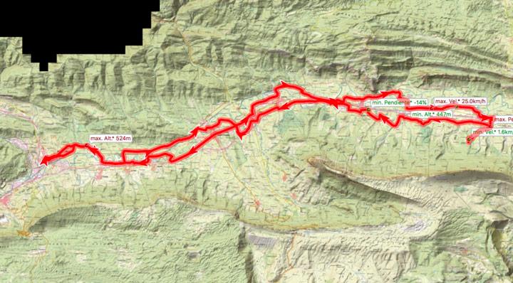 Mapa ruta 349BTT