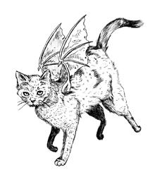 Elizabeth Porter Presents: Winged Cat