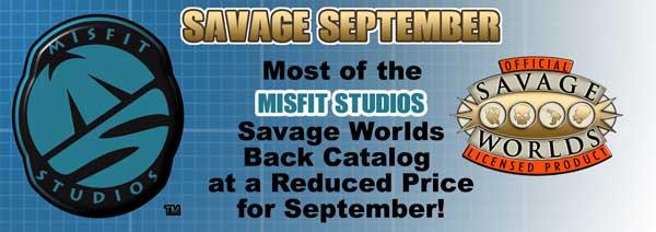 Misfit Studios Savage September banner for Savage Worlds