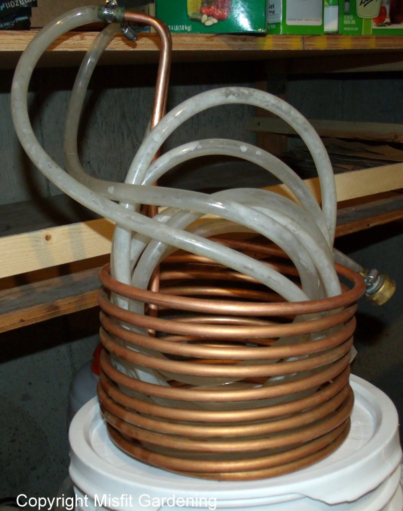 Copper wort chiller