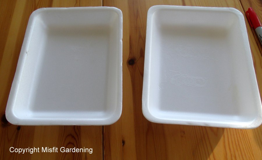 Food trays to plant labels