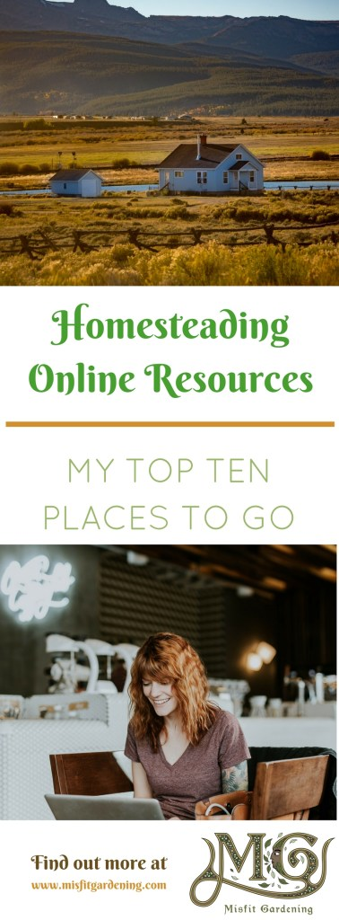 Find out my top ten go to resources online for homesteading. Click to find out where to go or pin it and save it for later.