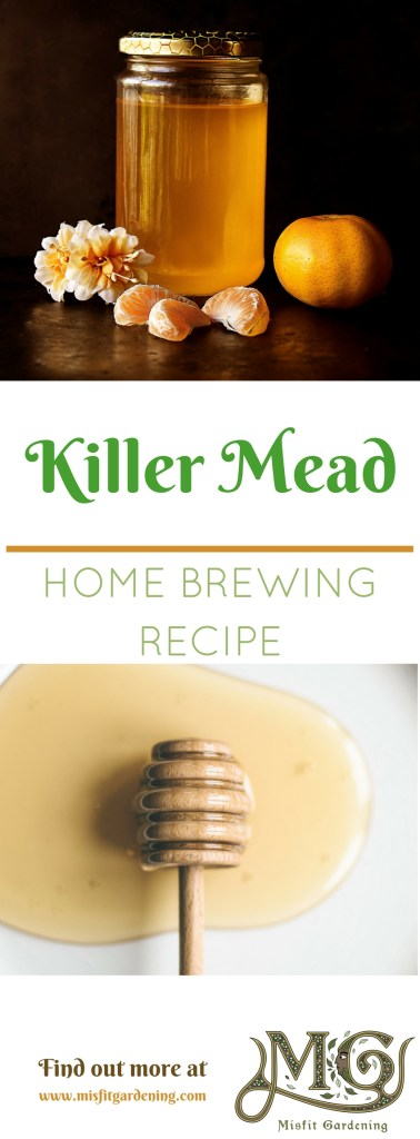 How to brew a killer mead using killer bee honey. Click to find out how or pin it and save this recipe for later.