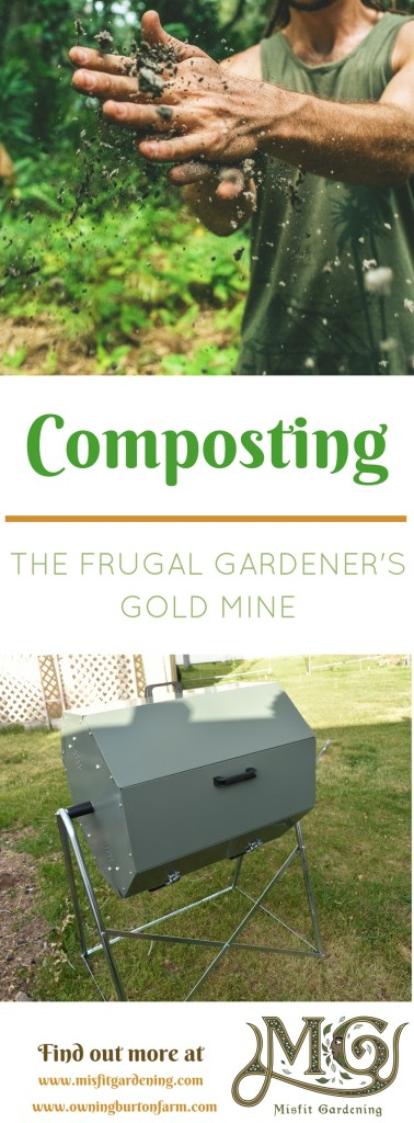 How to get started composting even if you don't have a garden yet. Click to find out how to start this super frugal gold mine or pin it for later