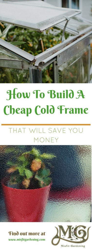 How to build a cheap cold frame that will save you money this year. Click to find out more or pin it and save it for later