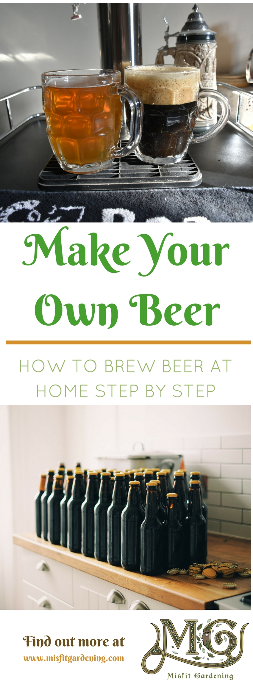 How to make beer at home. Click to find out how to #homebrew or pin it for later