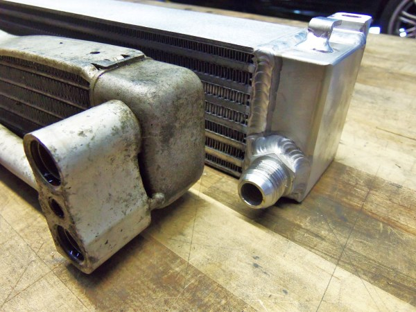 Mishimoto BMW E46 M3 Direct-Fit Oil Cooler Kit, Part 3: Cooler Comparison and Adapter Installation