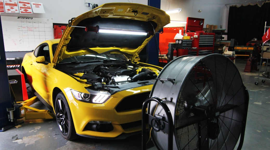 Preparing for 2015 Mustang EcoBoost exhaust dyno runs