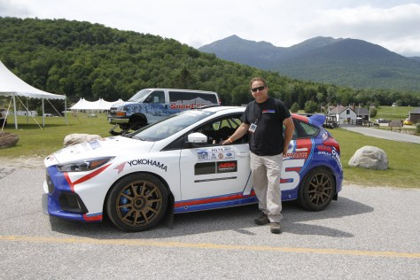 Tim O'Neil with his team's rally prepped Focus RS. Photo courtesy of Karl Stone and Team O'Neil.