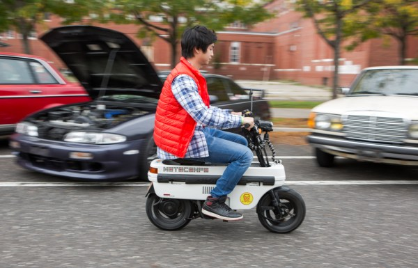 We saw all things 80s and 90s here. This Honda Motocompo is a collapsible moped that was intended for the Honda Today or Honda City sub-compact cars. Honda specifically designed the baggage compartment of these cars around the size of the folded up Motocompo. Hosen Tandijono also brought along his Toyota AE86 that happened to be running one of our radiators.