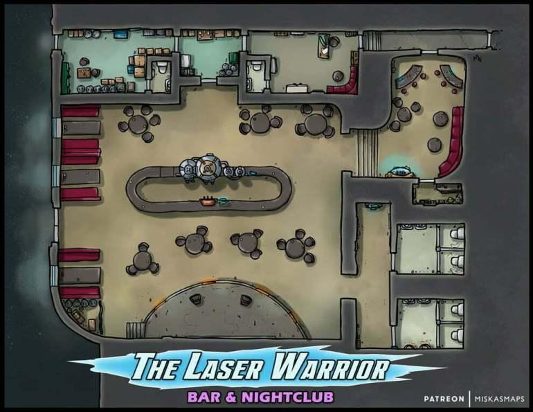 The Laser Warrior Bar & Nightclub Battle Map