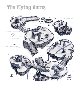 Map of flying ruins