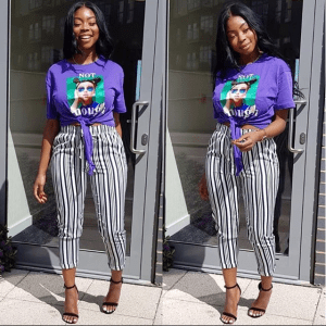 Purple Girl Print Tee