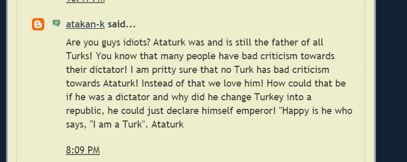 Ataturk Comment 1