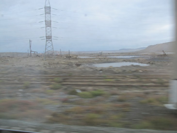 Blurry photographs from the train