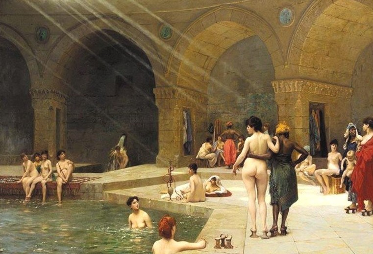 Like this Gérome painting....but not.