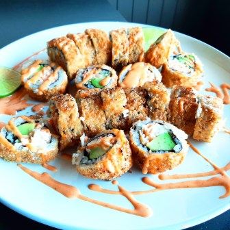 Spicy Tempura California Roll & Spicy Cream Deep Fried Roll