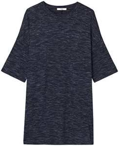 FIND Space Dye T-Shirt Robe Femme, Bleu (Navy), 36 (Taille Fabricant: X-Small)