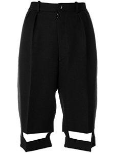 Maison Margiela Femme S29mu0026s48338900 Noir Laine Shorts