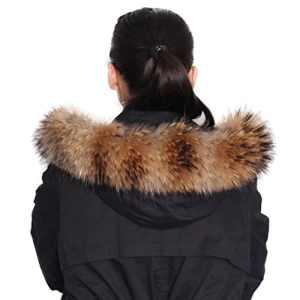 dancel écharpe/foulard F ¨ ¹ R de Madame Fourrure Manteau d'hiver col ou capuche Edges – Multicolore – X-Large