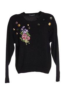 Dolce E Gabbana Femme Fr009zf84cvn0000 Noir Cachemire Maille