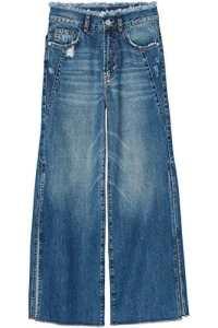 FIND Side Slit, Jeans évasés Evasé Femme, Bleu (Dark Blue), M (Taille fabricant: M)