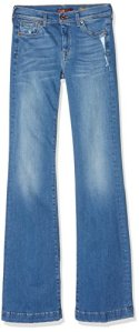 7 for all mankind Charlize, Jeans Femme, Bleu (Light Blue), W32/L35 (Taille Fabricant: 32)