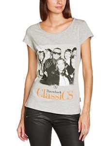 Boom Bap Trowback WTB0035 – T-shirt – Uni – Col bateau – Manches courtes – Femme – Gris (Mixed Grey) – FR: 36 (Taille fabricant: S)