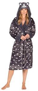 femmes animal costume Capuche Robe de chambre hiver chaud polaire confortable chausettes – Raton Laveur, XL (20-22)