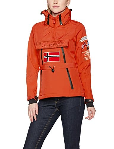 Geographical Norway Tulbeuse Lady 005, Veste Sweat Femme, Corail, Large