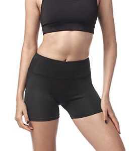 Lapasa Short Sport femme Yoga Fitness Running Gym élastique Stretch Gaine Large – Noir – Medium